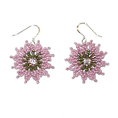 "Earrings ""Pink Stars"""