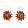 "Earrings ""Golden Stars"""