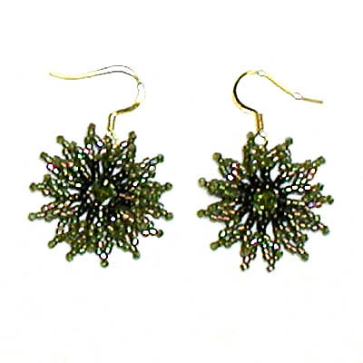 "Earrings ""Green Stars"""
