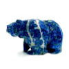 A Bear carving in lapis lazuli