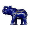 An Elephant carving in high quality lapis lazuli
