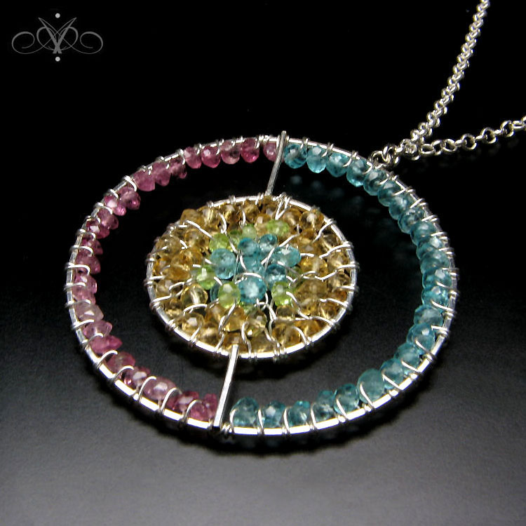 Hand Crafted Gem Pendants Uk Silver