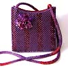 Bead embroidered handbags by Guzell Bakeeva