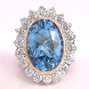 Faceted blue topaz in jewelry item