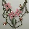 Jewelry in clear rock crystal and beads by Albina Polyanskaya