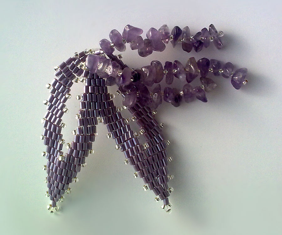 Victoriya Katamashvili. Russian Leaves in beaded jewelry