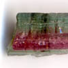 Bi-colored tourmaline crystal