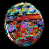 Dichroic glass cabochons by Linda Roberts