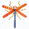 How to make: Dragonfly from beads and wire