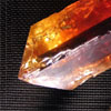 Red topaz crystal