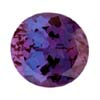 Faceted alexandrite crystals