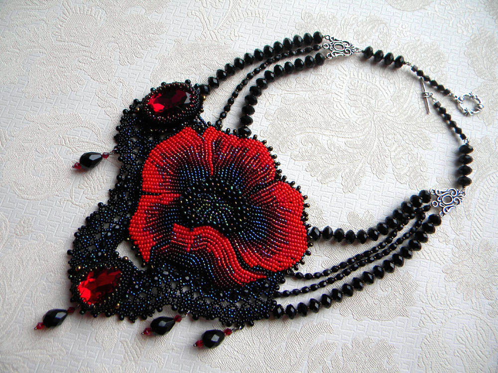 Bead embroidery by Olga Orlova