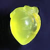 Carved yellow prehnite