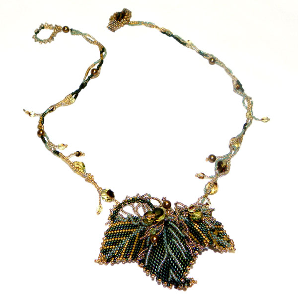Grape Leaf Necklace