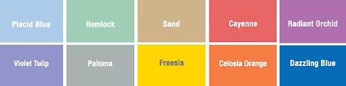 Colors of Spring 2014 by Pantone