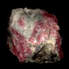 Rhodonite crystals in rock