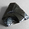 Obsidian sample collected on the island of Lipari, Sicily