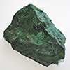 Rough emerald green natural verdite from South Africa