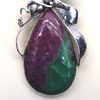 Ruby-zoisite in jewelry